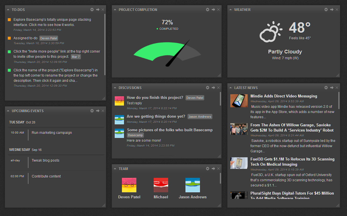 Business Project Management Dashboard